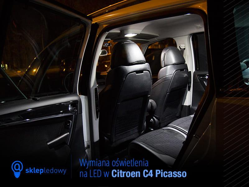 citroen c4 picasso zestaw o wietlenie kabiny led premium 9 ar wek. Black Bedroom Furniture Sets. Home Design Ideas