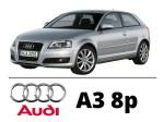 Audi A3 8p Zestaw Oświetlenia Kabiny Led Standard 10