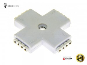 "Konektor ""+"" Kąt prosty dla Taśm Led 10mm RGB IP20 4pin"