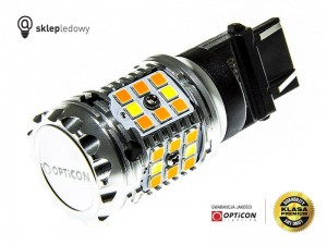 Żarówka Led P27/7W 3157 40x SMD 3030 DUAL COLOR 10/30 CW OPTICON PREMIUM