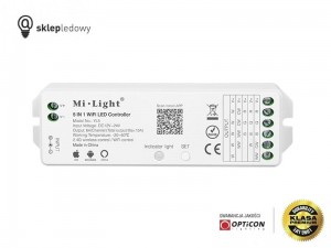 Sterownik Mi-Light MULTI 5in1 YL5 Strefowy 15A 12V / 24V DC 2,4G Wi-Fi