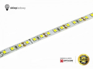 Taśma LED 12V 600 SMD 2835 8mm IP20 18W/m Biały Super Zimny 16000K OPTICON PREMIUM