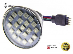 Żarówka Led 3W MR16 12V 21x SMD5050 RGB 4PIN 50mm