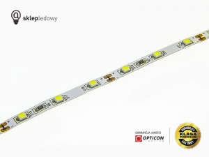 Taśma LED 12V 300 SMD 3528 5mm IP20 4,8W/m Biały Zimny 6000K OPTICON PREMIUM