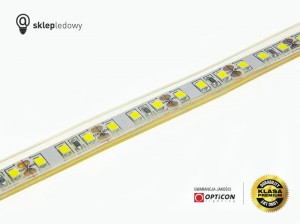 Taśma LED 12V 600 SMD 2835 10mm IP68 18W/m Czerwony OPTICON