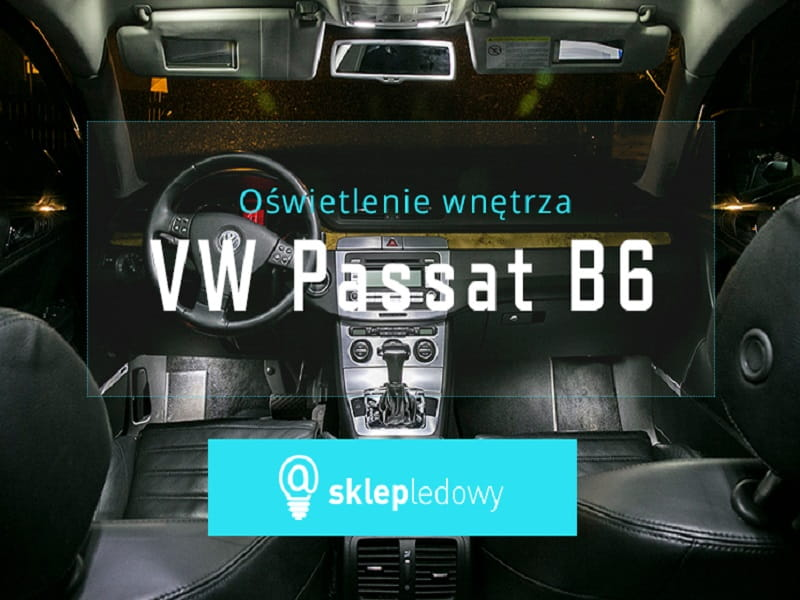 Volkswagen Passat B6 Zestaw Oświetlenia Kabiny Led Opticon Premium 15 żarówek