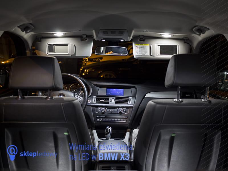 Bmw X5 E53 Zestaw Oświetlenie Kabiny Led Standard 18 19 żarówek