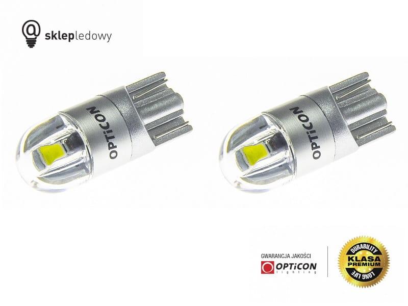 Peugeot 208 Oświetlenie Tablicy Rejestracyjnej Led W5w T10 Opticon Premium Zestaw 2 żarówki